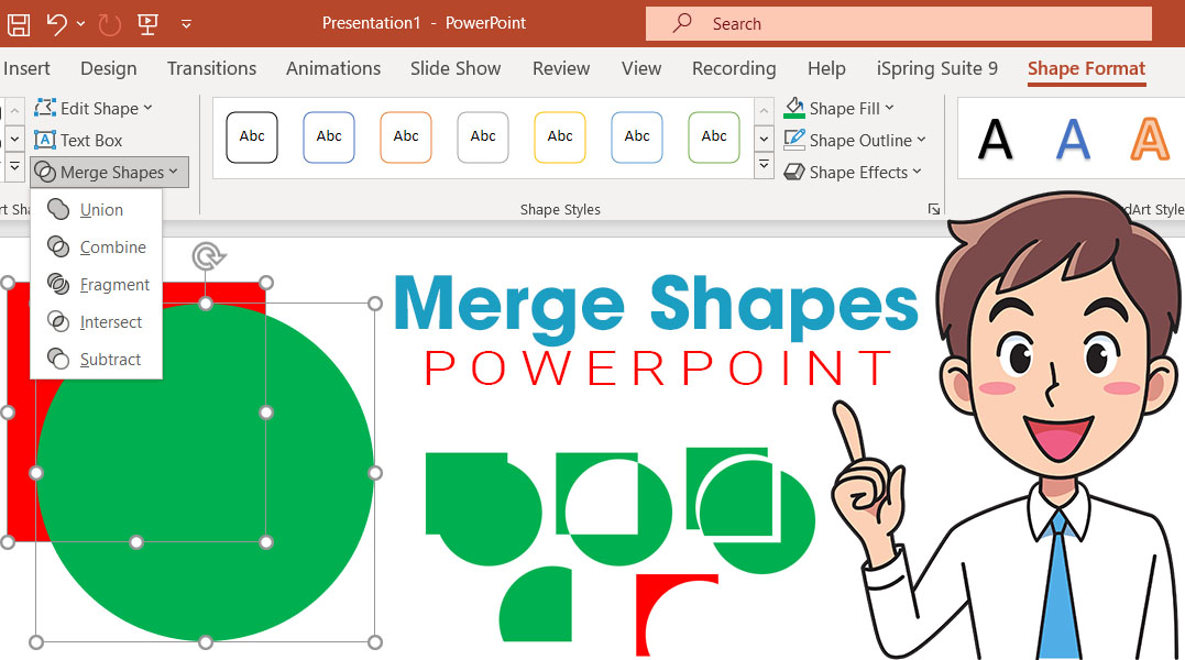 Merge Shapes trong Powerpoint
