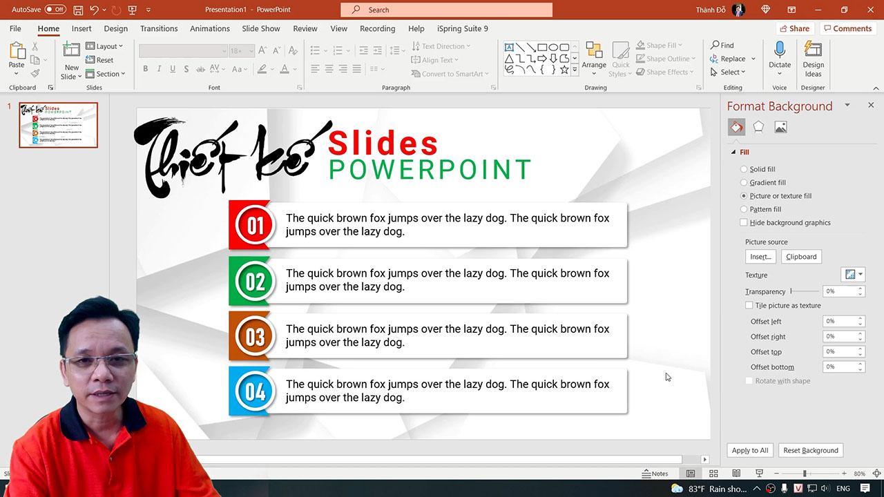 Thiết kế slide chuyên nghiệp